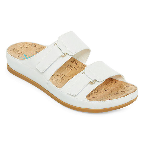 Yuu Womens America Slide Sandals Wide Width
