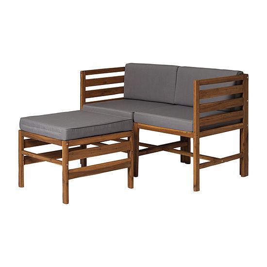 Walker Edison 3-pc. Patio Lounge Set