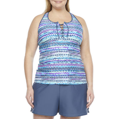 Free Country Tankini Swimsuit Top Plus