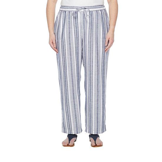 Liz Claiborne Womens Straight Drawstring Pants - Plus