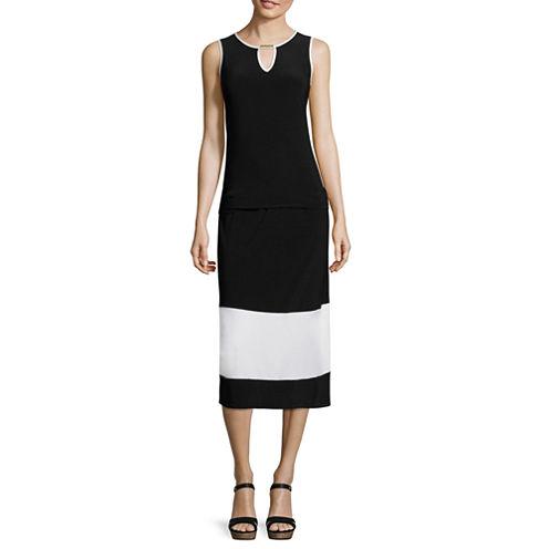 Tiana B. Sleeveless Midi Keyhole Dress - Tall