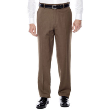 Stafford® Travel Year-Round Flat-Front Pants