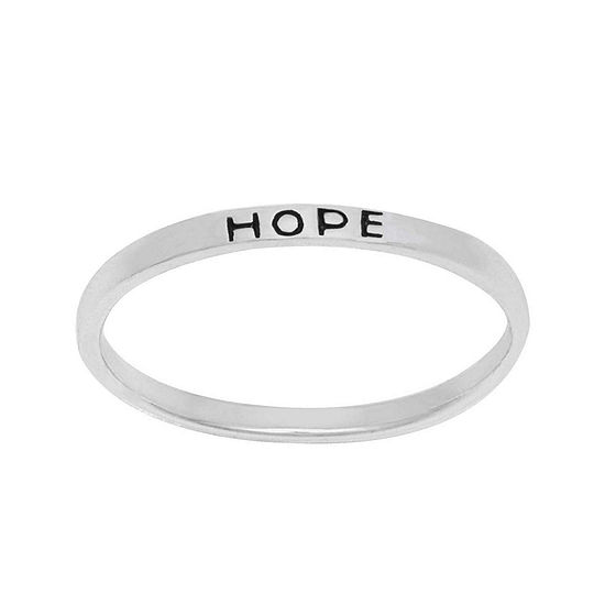 Itsy Bitsy Sterling Silver Hope Ring