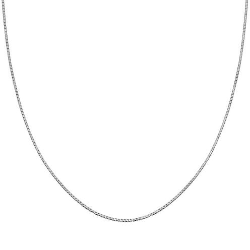 "Silver Reflections™ Sterling Silver 30"" Box Chain Necklace"
