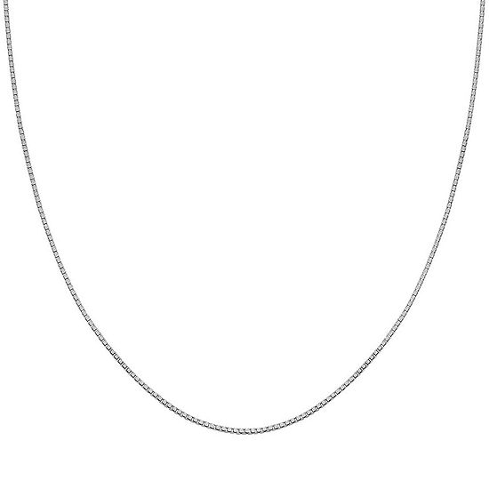 Silver Reflections Sterling Silver 30 Box Chain Necklace