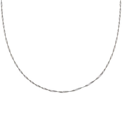 "Silver Reflections™ 20"" Singapore Chain Necklace"