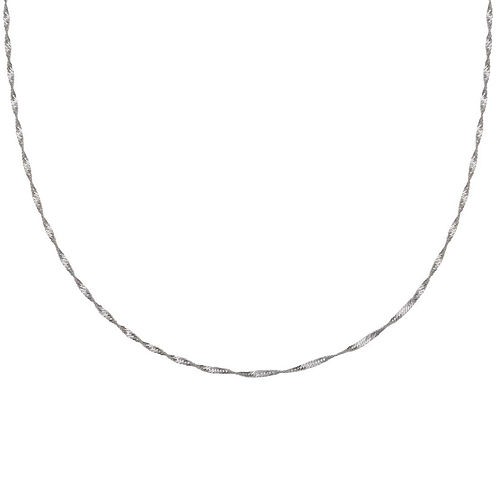 """Silver Reflections™ 20"""" Singapore Chain Necklace"""