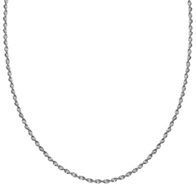 "Silver Reflections™ Sterling Silver Butterfly Twist 16"" Chain Necklace"