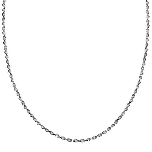 """Silver Reflections™ Sterling Silver Butterfly Twist 20"""" Chain Necklace"""
