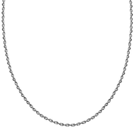 "Silver Reflections™ Sterling Silver Butterfly Twist 20"" Chain Necklace"