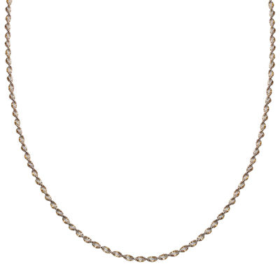 "Silver Reflections™ Two-Tone Sterling Silver Butterfly Twist 18"" Chain Necklace"