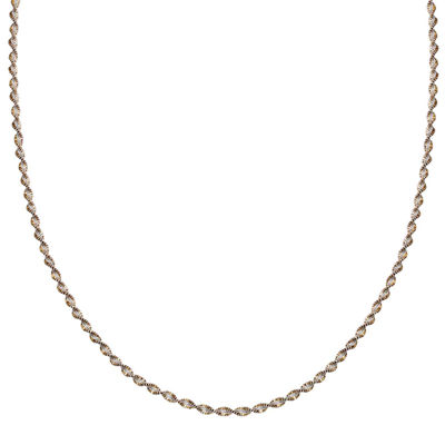 "Silver Reflections™ Two-Tone Sterling Silver Butterfly Twist 20"" Chain Necklace"