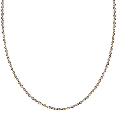 "Silver Reflections™ Two-Tone Sterling Silver Butterfly Twist 30"" Chain Necklace"