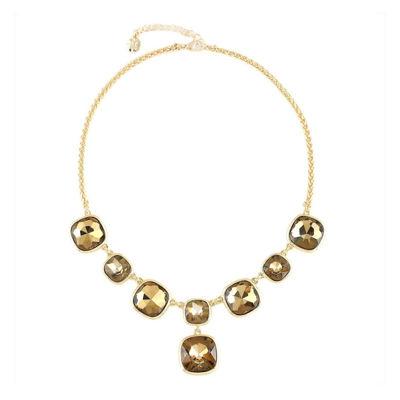 Monet® Brown Stone Gold-Tone Y-Neck Necklace