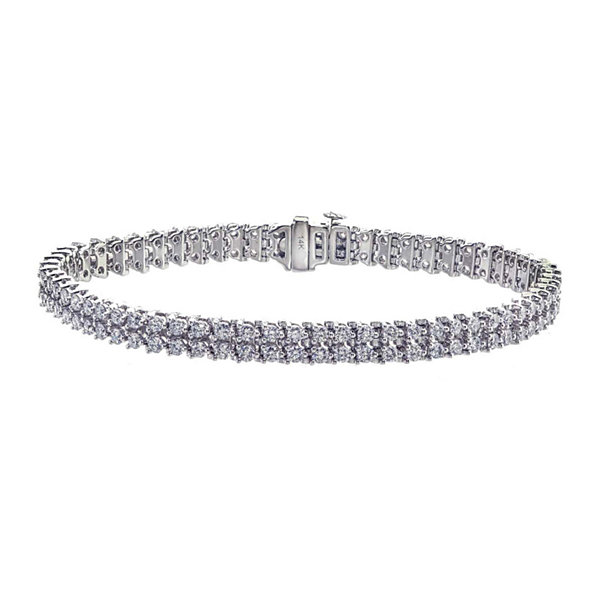 4 CT. T.W. Diamond 14k White Gold Bracelet
