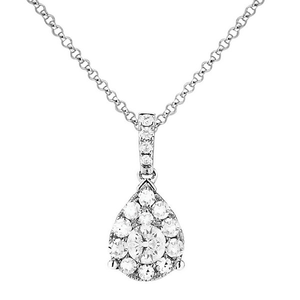 Brilliant Dream™  ½ CT. T.W. Diamond Cluster Pear Pendant Necklace