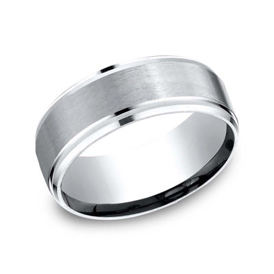 Mens 9mm Cobalt Wedding Band