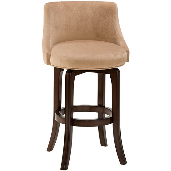Hartman Swivel Upholstered Barstool with Back