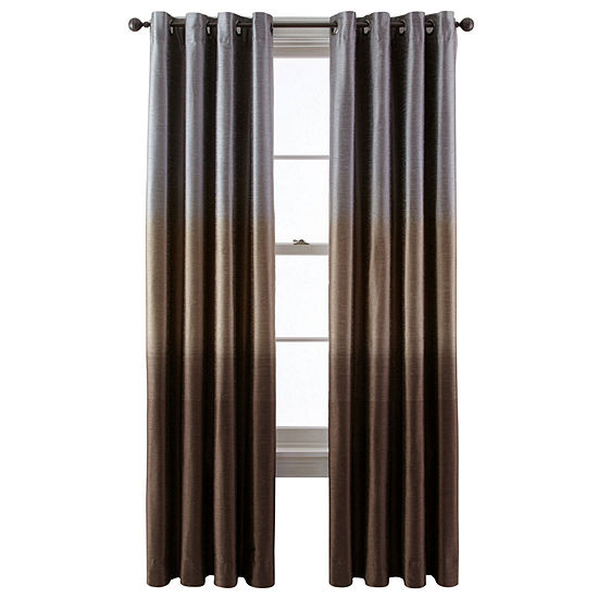 Liz Claiborne Dylan Ombré Grommet-Top Curtain Panel