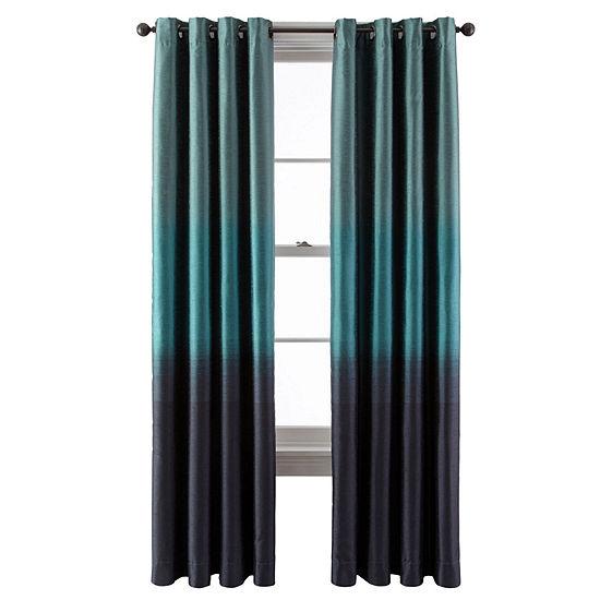 Studio Light-Filtering Grommet-Top Single Curtain Panel