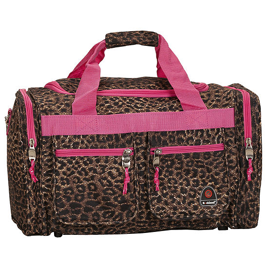 """Rockland 19"""" Freestyle Carry-On Animal Print Duffle Bag"""