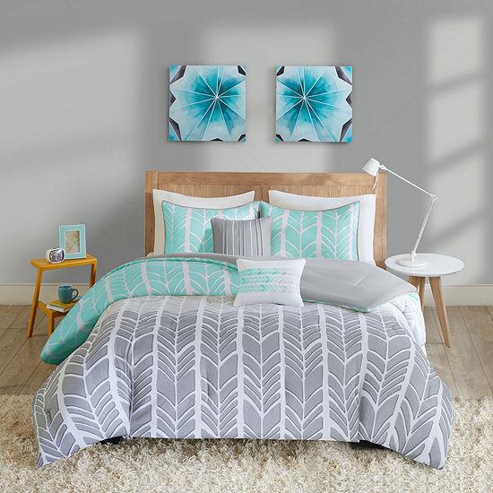 Intelligent Design Kennedy Chevron Comforter Set Jcpenney