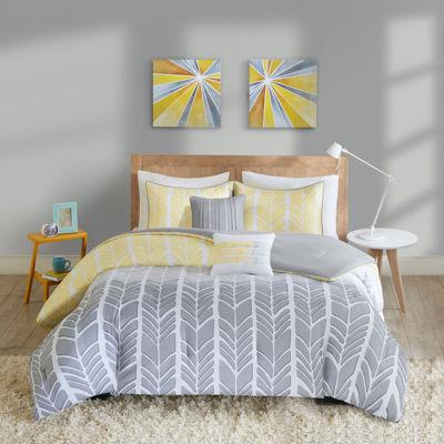 Intelligent Design Kennedy Chevron Comforter Set
