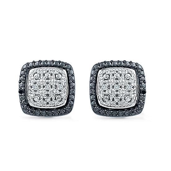 Diamond Accent White Diamond Sterling Silver 17.6mm Stud Earrings