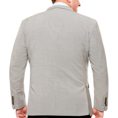 Stafford Year-Round Stretch Black White Houndstooth Sport Coat-Classic