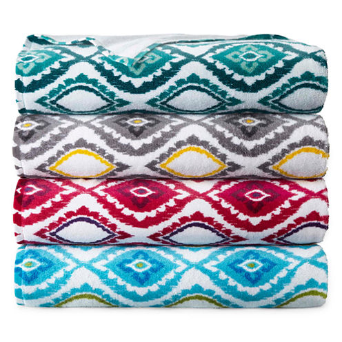 JCPenney Home Valencia Bath Towel Collection