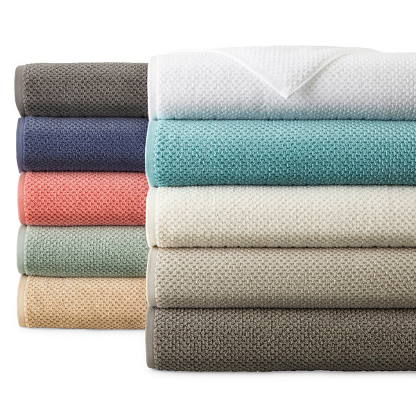 JCPenney Home Quick Dri Textured Solid Bath Towels JCPenney