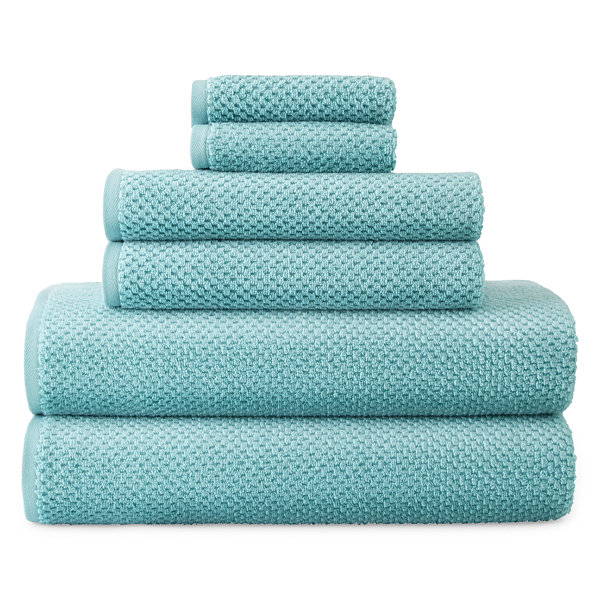 JCPenney Home™ Quick Dri Textured Solid 6-pc Bath Towel Set - JCPenney