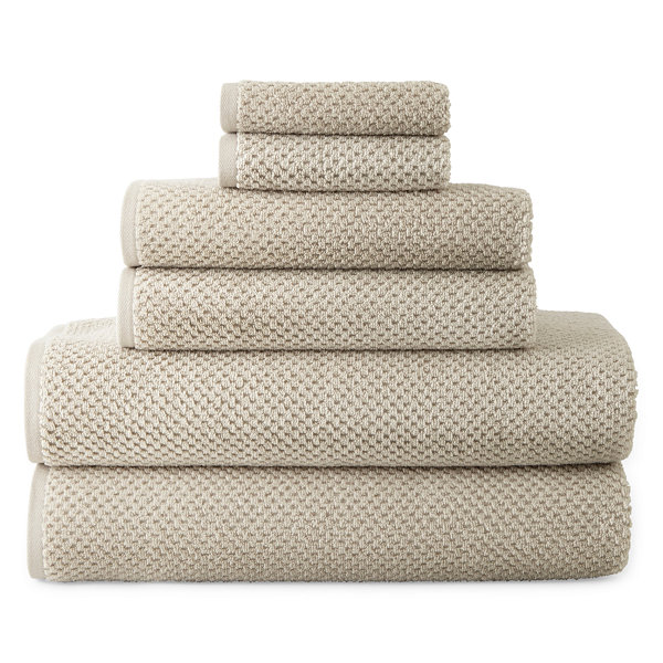 JCPenney Home™ Quick Dri Textured Solid Bath Towel Program and Quick ... c7fac700e