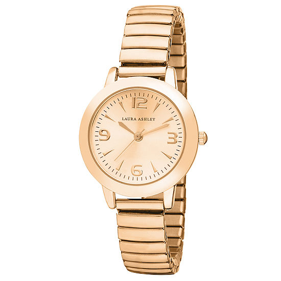 Laura Ashley Womens Rose Goldtone Bracelet Watch - La31034rg