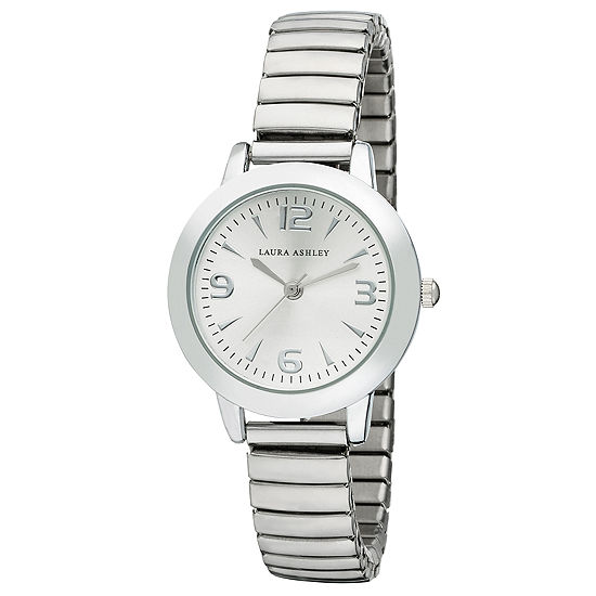 Laura Ashley Womens Silver Tone Bracelet Watch-La31034ss