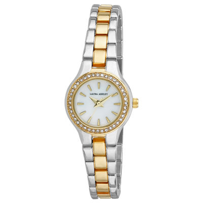 Laura Ashley Womens Silver Tone Bracelet Watch-La31035ss