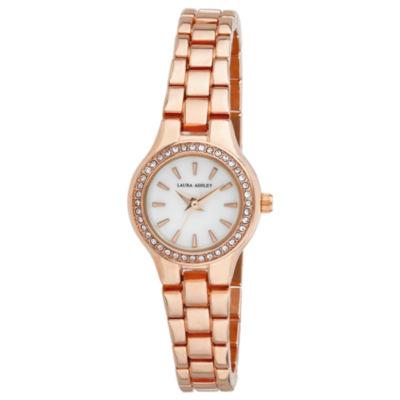 Laura Ashley Womens Rose Goldtone Bracelet Watch-La31035rg