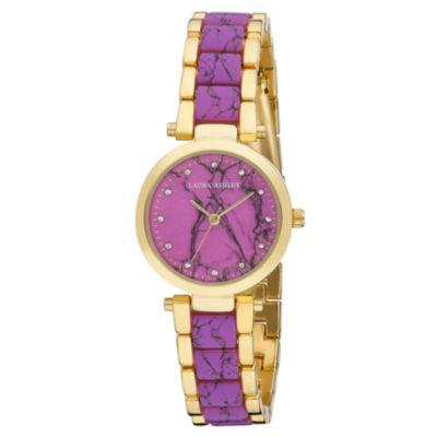 Laura Ashley Womens Pink Bracelet Watch-La31036pk