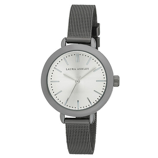 Laura Ashley Womens Black Stainless Steel Strap Watch-La31039bk