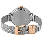 Laura Ashley Womens Silver Tone Stainless Steel Strap Watch-La31039rb