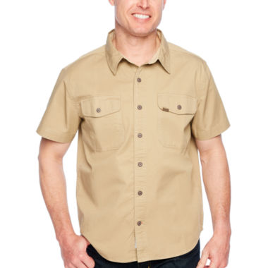 Smith Workwear Short Sleeve Button-Front Shirt