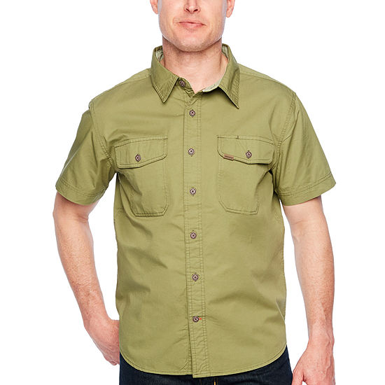 Smith Workwear Mens Short Sleeve Button-Front Shirt