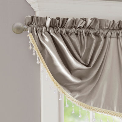 Madison Park Enise Faux Silk Emperial Valance