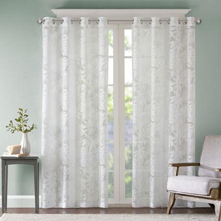 Sheer Grommet Top Single Curtain Panel