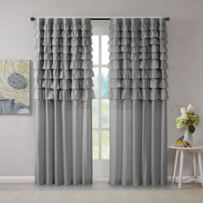 510 Design Demi Ruched Rod-Pocket Curtain Panel
