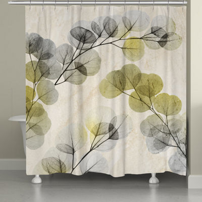 Laural Home Smoky X-Ray of Eucalyptus Leaves Shower Curtain