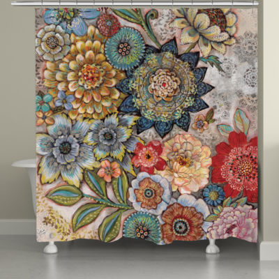 Laural Home Boho Bouquet Shower Curtain