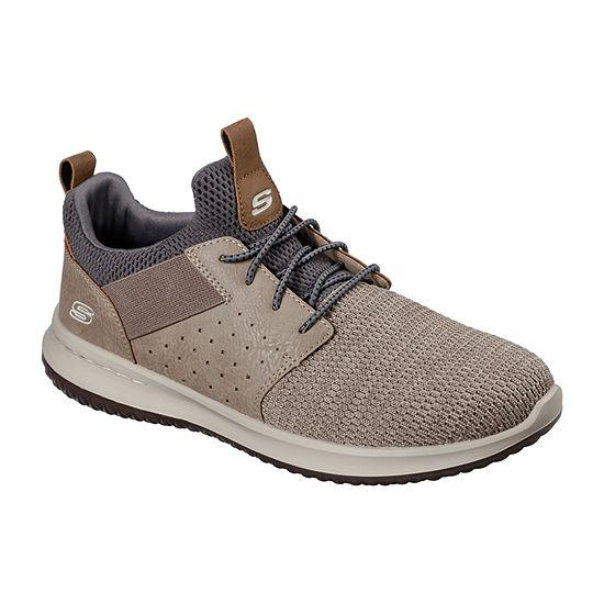 Skechers Mens Delson-Camben Slip-On Shoe Round Toe