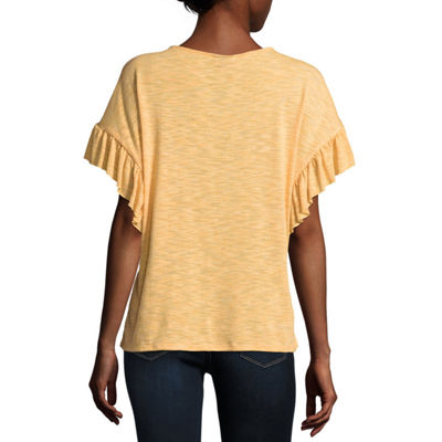 a.n.a Short Sleeve Flutter Tee - Tall