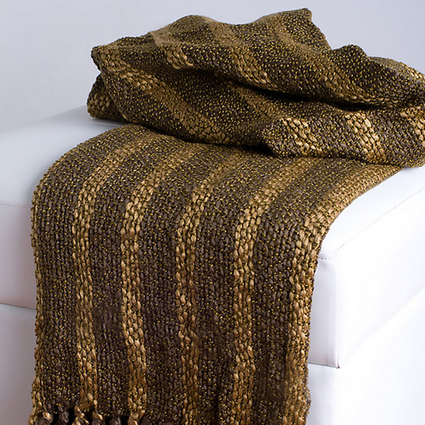 Rizzy Home Richard Transitional Stripe  Throw